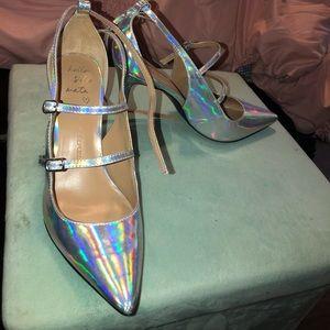 Banana Republic metallic heels sz 7.5
